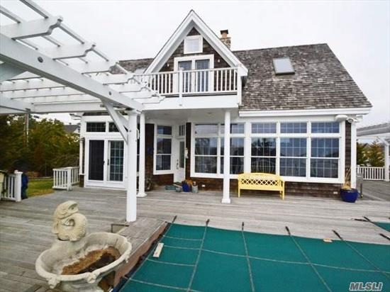 Paradise Awaitsyou! This Victorian Has Spectacular Water Views From Every Room, This Custom Design Make It Unique In Style. Granite Countertops, Viking Stove, Bosch Dishwasher, Built In Frig , Mahogany Decking , Ig Heated Pool, Cac, Granite, Geogian Plank Floors Cedar Roof, Landscaped, Bulkheaded W/Finger Docks, Watching The Boats And Swimming In Your Pool.
