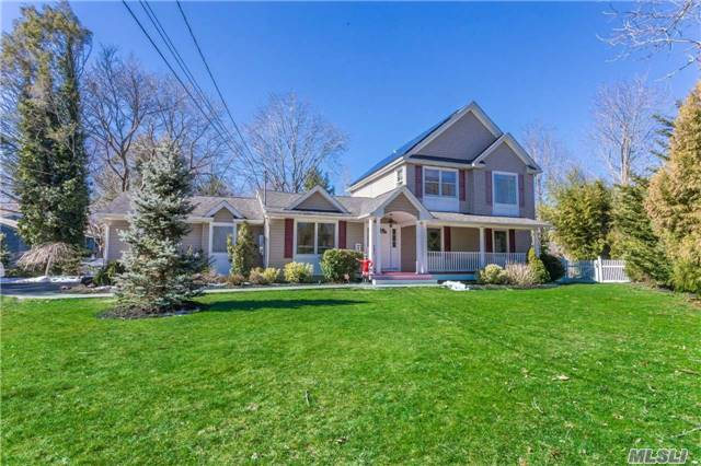 Completely Remodeled In 2006. Smithtown Sd, Gorgeous 5Bdrm, 3.5 Bth Home With Post Modern Feel On Stunning Flat Half Acre With 3 Yr Old Heated Salt Ig Lagoon Pool, Paver Patio And Fire Pitt. Gas Heat. Open Floor Plan, Kit W/Granite, Ss Appliances, Beautiful Crafted Mouldings. 3 Beds On Main Flr, Spectacular Mstr Suite And 5th Bedrm On 2nd Floor. Cac, 200 Amp  A Must See