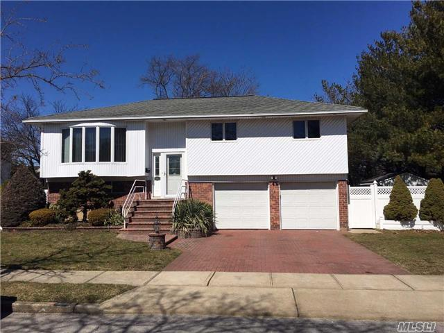 Fantastic Hi Ranch Situated In Plainedge School District No. 18. Open Floor Plan And Vaulted Ceilings. Additional Features Include Andersen Windows, Brick Fireplace, Gas Heat, Central A/C, 2nd Level Trex Deck, Covered Patio, Vinyl Lined (2017) Inground Pool, Fenced Rear Yard And Two Car Garage. Taxes Do Not Include Star Exemption. Located On A Quiet Dead End Street.