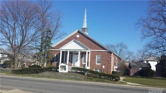 Free Standing Brick Building On A Corner To Corner Lot. Building Has A Sanctuary, A Sunday School, Nursery, 2 Offices, Conference Room, Male & Female Bathrooms. Walking Distance From Rail Road, Public Transportation And Shopping Center. Worship Days: Additional Free Parking Available In Lot Across From Worship.