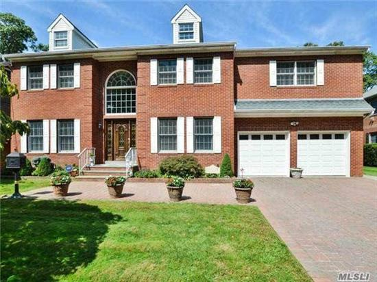 This Stately Brick Colonial On Pool Size Prop. (80X175) Has The Contemporary Flrplan With The Old World Quality You Expect. This Home Features A Gourmet Kit With Upscale Appliances & Granite Counters Open To An Incredible Family Rm. Sliding Doors Allow A View Of The Beautiful Slate Patio & Backyd. 5 Bedrooms, 4 Full Baths, Fireplace & Much More. Tax Grievance Has Been Fil.