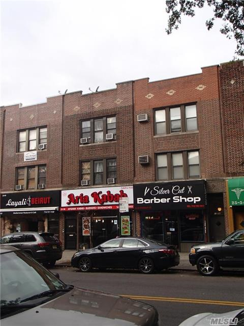 Prime Location In Astoria Located On On The Northeast Corner Of Steinway Street And 28 Th Ave. Great Foot Traffic And Exposure. Approximately 20' Of Frontage, 11021+Sf Retail Space. Plus 1000 Sf Basement With Two Access Points And A Small Back Yard. -2nd& 3rd Floor 3 Bedrooms 1 Bath Paying , Separate Hot Water And Gas Meter