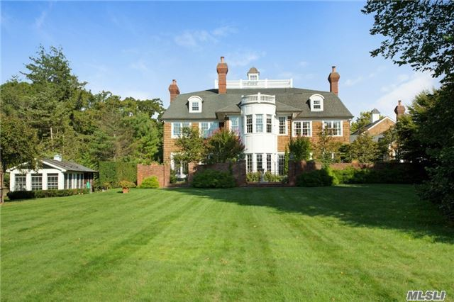 A Winding Driveway Thru The Woods Leads To Sanjorjo A Private Gated Custom 7700+ Sqft. Colonial With Elegance That Abounds Inside And Out. Banquet Sized Dining Rm, Chestnut Library, Conservatory, Master Suite, 1 On Suite, 2 Brms W/Full Bath. Exquisitely Decorated, 2.6 Acres W/ 150'Bulkhead W/Boat Lift. West Coast Sunsets Over Nature Preserve. Sep 2 Brm Cottage W/2Car Gar