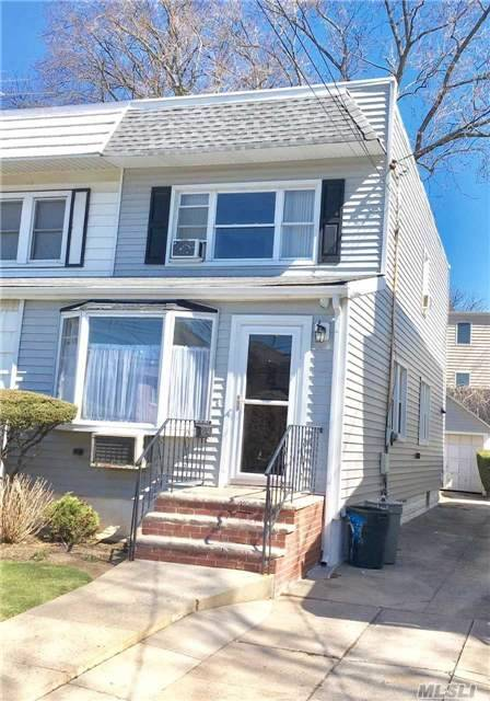 Sold As Is. Semi Detached Home, 3 Bedroom, 1 Bathroom. Updated Bathroom, Updated Electrical, Detached Garage. Close To All (Mta/Lirr).