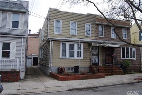 Lovely 2 Family Semi-Detached Large Frame Home Located On Juniper Valley Road, 6 Rooms Over 5, Party Drive, Large Basement. 6 Blocks To M Train On Metropolitan Avenue,  2 Blocks To Juniper Valley Park, 2 Blocks To Ps 128 School, Near Shopping.