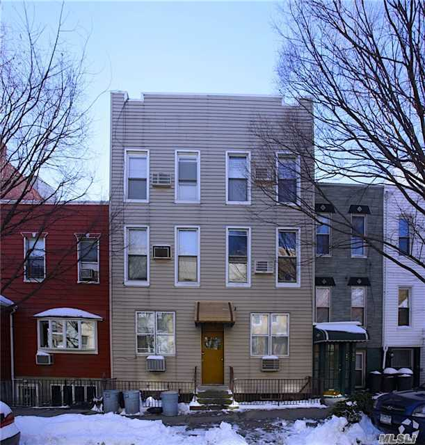 8 Family 6 + 2 Six Family At The Front And 2 Family At The Back In The Heart Of Greenpoint. This Classic Property With Its Elegant Architectural Design Is Situated On A 25 X 100 Lot. The Massive 5, 025 Square Foot Interior Featuring 24 Rooms 16 Bedrooms, 8 Kitchens And 8 Full Baths. Preserving All The Original Details. Approximate One Block From G Train Greenpoint Ave,