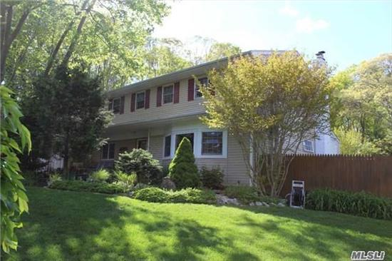 Perfect For Home Professional/ Or Extended Family W/Legal Garage Conversion. 5 Br's On 2nd Floor, Formal Lr, Dr, Den W/F/P, Newer Eik,  Hardwd Floors Throughout. Central Air. 200 Amp. Full Fin. Basement W/Outside Entrance, Room For Pool, Pretty & Private Backyard. .61 Acres. M. Best Buy In Smithtown!