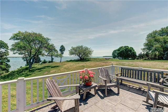 Sublime Bayfront With Dock Available 2018 Home Features Colonial Revival Charm At The Beach... Entry Hall, Broad Waterside Living Room W/Fireplace And Views, Dr, Eik, Den/Br W/Bath And First Floor Master Suite W/Bath; Upstairs 2 Bedrooms And Bath. Private Estate Area W/Dock - Mooring Available.