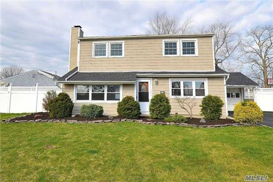 Renovated In 2010, 4 Br & 2 Bth Colonial - Open Floor Plan, New Windows & Siding, Granite Kitchen, Large Prop W/Vinyl 6' Fencing, Fpl W/Heatolator, Covered Patio & New Sealed Large Asphalt Driveway, Main Floor W/Oil Heat, Upper Level W/Electric Heat W/5 Separate Thermostats, New Roof, New Boiler, ****Seller Will Credit Buyer $7, 500.00 At Closing For First Year's Taxes*****