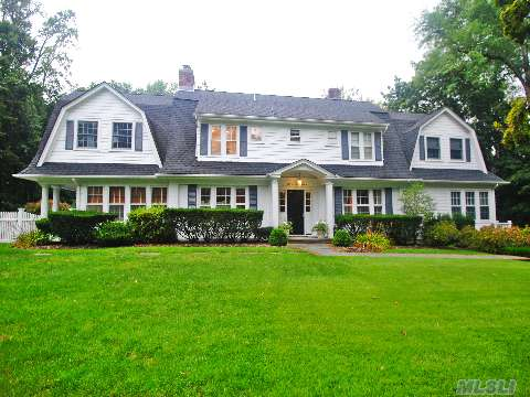 All Redone Roslyn Estates 5 Bedroom 5 1/2 Bath Center Hall Colonial (Plus Nanny's Room /Bath).There Are Exquisite Details, Built-Ins And Amenities Throughout This Spacious Traditional Home.  Spectacular 3/4 Acre With Heated Gunite Pool/Jacuzzi, Waterfall, And Basketball Court.