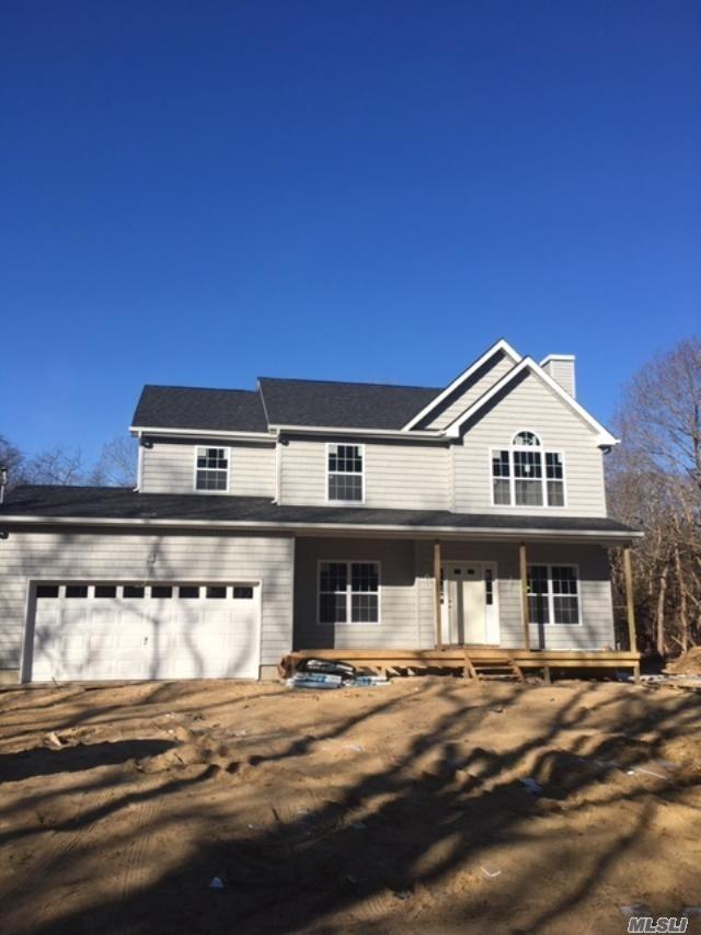 Occupancy in June. Be in by the Summer! Last Lot Left! Time To Customize Colors. The Devon Model, Beautiful 4 Br, 2.5 Bath, Full 8 Ft Ceilings In Basement, Hardwood Floors On Main Level, Granite Counters In Kitchen, Lp Gas, 2-Zone Central Air, 1 Full Acre On Private Flag Lot, 2- Car Garage (Front-Facing). Bsmt Ose. Buyers To Verify Taxes With The Town. Option Available To Add Upgrades!