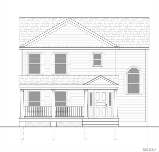 Colonial To Be Built, Eik, Lr/Dr , Mbr W/Bath, 2 Add'l Brs,  2.5 Baths Total, Full Basement W/ Utilities And Laundry, All New , Low Taxes, Northport #4 School District, Please See Attachments For Full Description..