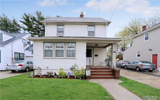 Great Home In The Village Of Floral Park, Home Features Lr, Formal Dr, Large Eik, And Enclosed Front Porch, Second Floor Has Three Bedrooms And Full Bath. Great Location Convenient To All Village Amenities.