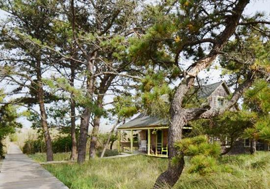 Rare opportunity to own a charming cottage on one of the largest parcels on Fire Island!  Driftwood Cottage is nestled on nearly half an acre in beautiful Corneille Estates and has been lovingly cared for since it was constructed in 1911.  Teeming with original charm and character, this heritage home features a beautiful wood burning fireplace, original beadboard paneling and hardwood floors throughout.  The home features 3 bedrooms and 1 bathroom, but could be expanded to accommodate today's modern family in classic style.  The 175' X 100' lot represents an extremely unique opportunity to create a family compound or private estate in a peaceful setting.  The large deck could also be expanded and there is ample room for a sizable pool.  Subdivision potential with two separate tax lots.  Low taxes and affordable flood insurance only $1,811/year.  Ideally located, this home is just a 3 minute walk to the beach and a short walk to the ferry, shops, and restaurants in the Village of Ocean Beach. This special property is an incredible opportunity to establish a second home in a tranquil setting that your family can enjoy for generations to come.