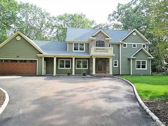Location, Location In Heart Of Belle Terre Sits This Stunning 5Br, 2.5 Bath Brand New 3375 Sq.Ft. Post Modern W/10' Ceilings W/Gourmet Eik W/Granite, Ss Appliances, Hardwood Floors Throughout, Dual Gas Fplc, Hi Hats, State Of The Art Baths, Master Suite W/Master Bath & Private Balcony, 2.5 Car Gar, Trex Deck, Famed Port Jeff Sd, Belle Terre Amenities & Beaches, A Must See!