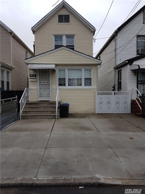 Income Producer Gem In Excellent Condition. Two (2) Family House On Large Lot With Private Driveway. Finished Basement With Outside Separate Entrance. Mta Train & Buses Around The Corner. Walk To All Conveniences On Liberty Avenue.