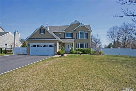 Built 2015, Colonial Harborfields-Custom Construction Throughout. 4Br, 2.5 Baths, Lr W/Fireplace, Formal Dr, Eik W/Breakfast Room. All Custom Granite And Stainless, High End Appliances, Hw Floors Throughout Trex Deck, Hot Tub, Many Extras, Shed, Expanded Driveway, 9' Basement. 2nd Floor Laundry, Alarm.
