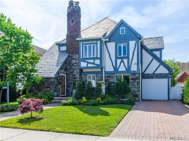 Lovely Tudor Home On Tree-Lined Block. Close To All! 4 Bedrooms 3.5 Baths And Spacious Basement With Separate Bath And Separate Entrance. This Has Charm From The Apple Trees In The Backyard To The Forever Roof Made Of Slate. Come And See!