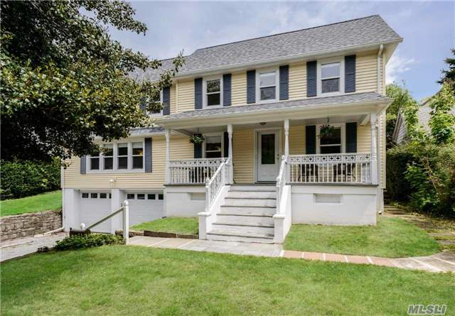 Totally Renovated Front Porch Colonial. Open L.Room W/Fireplace, Formal Dining Rm. Eik & Den. 3 Bedrooms All W/En Suite Baths, Large Slate Patio In Backyard W/Mint Studio W/1/2 Bath For Use As Office, Gym, Etc. Whole House Generator. A Must See!
