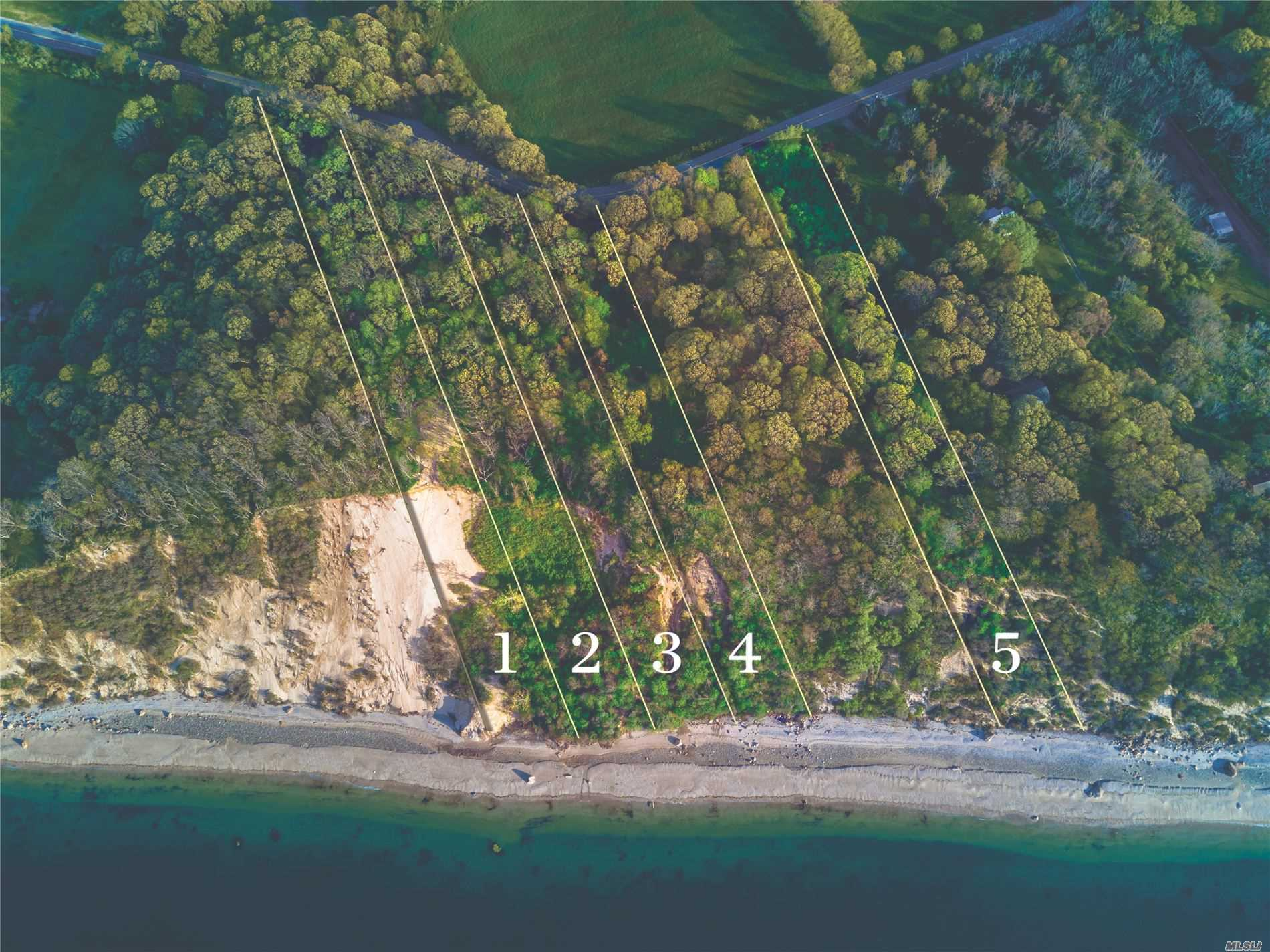 Overlooking The Long Island Sound Your Private Oasis Awaits. 5 Waterfront Parcels That Feature The Gift Of Breathtaking Sunsets & Forever Views. This Is An Incredible Opportunity To Build Your Spectacular Sound Front Compound Or As An Investment To Build Individual Homes. Centrally Located To Li's Finest Beaches, Golf Courses, Shopping, Farm Stands And Wineries.