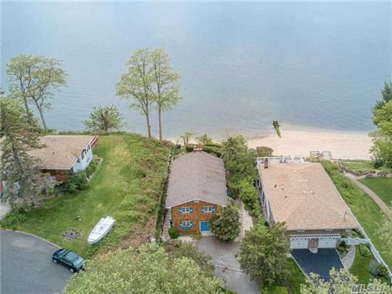 Do You Want To Be On Vacation Everyday? Then Don't Miss Out On This Great Opportunity To Own This Waterfront Hi-Ranch Home. Breathtaking Panoramic Views Of The Li Sound & Connecticut. Beautiful Sunrise/Sunsets. Cozy Up To 2 Fireplaces, 3 Bdrs, 2 Full Baths. Make It Your Home......