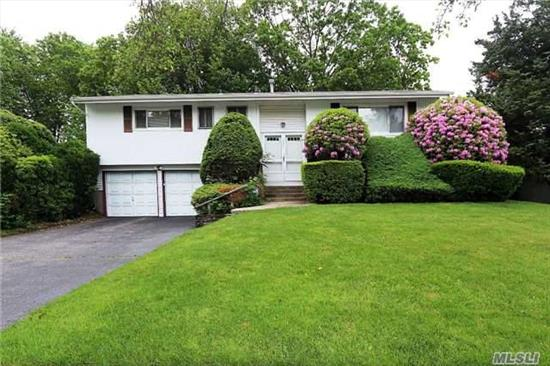 Beautiful Treed Property In Dix Hills, Commack Schools. Great Location. Close To Transportation. Two Car Garage.