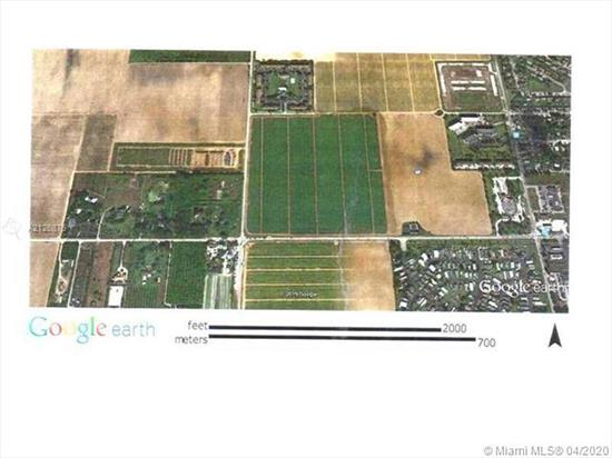 20 Acres Residential & Mixed Development Opportunity. Currently Undeveloped Agricultural Land. Utilities Located Along Frontage S.W 344 St. Can Be Platted For Multifamily Use. This Area Is The Future Expansion For Multi Residence. Short Drive To The Turnp Ike, Baptist Hospital Of Homestead, And Downtown Homestead. Get On Board To South Dade County Growing Expansion!