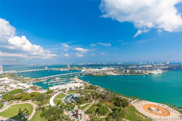 Enjoy Unobstructed Views Of Biscayne Bay, Port Of Miami And Miami Beach From The L-Shaped Balcony. This Is Your Chance To Live In 50 Biscayne At A Reasonable Price. Pre-Wired Smart Building Boasts A Spa, Meditation Room, Pool And Fitness Center Among Other Amenities.