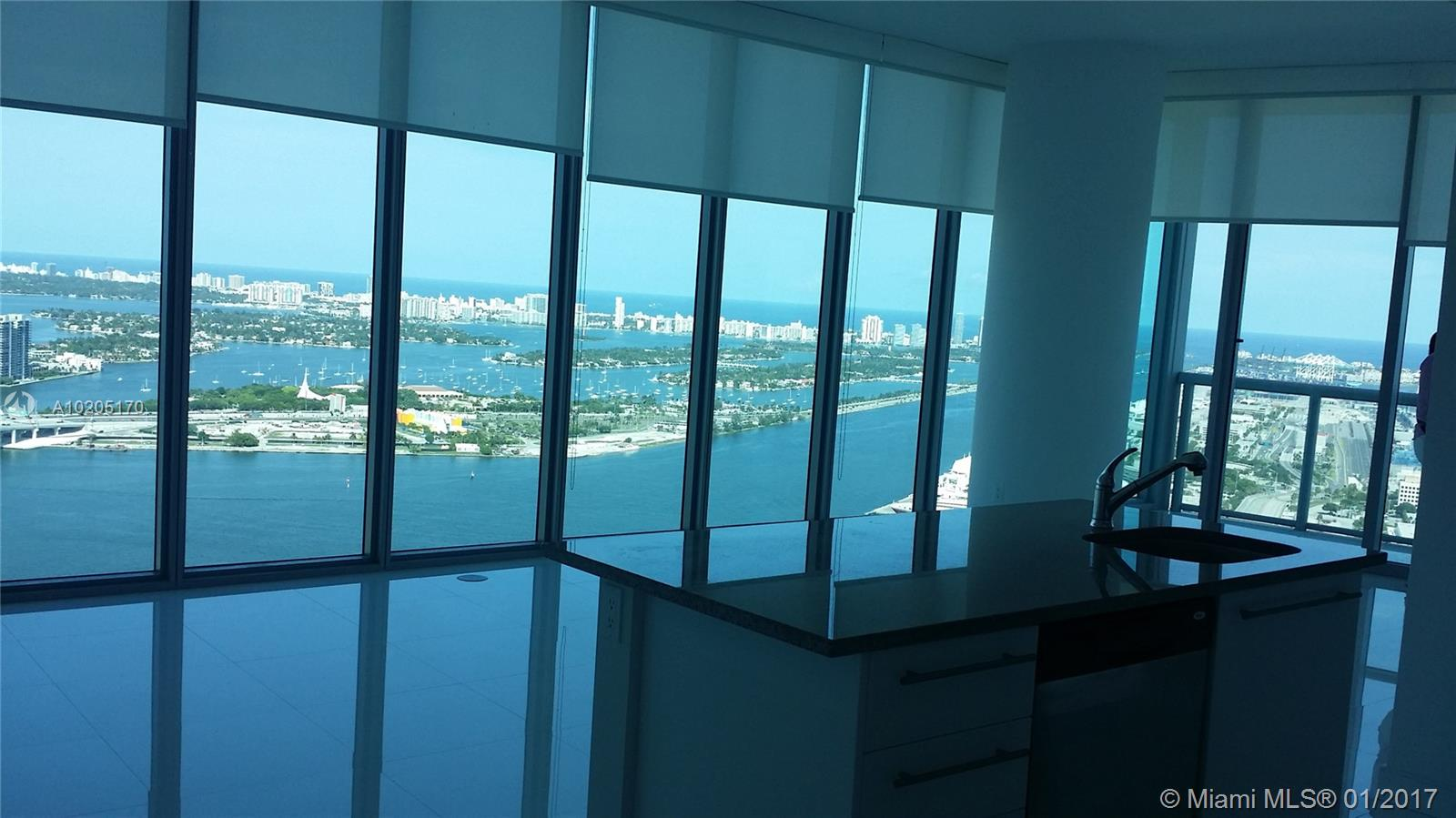 Awesome Bayview All Around The Unit , Very Nice Layout Featuring White Glass Tiles, Stainless Steel Appliances,  Italian Cabinets.Easy To Show