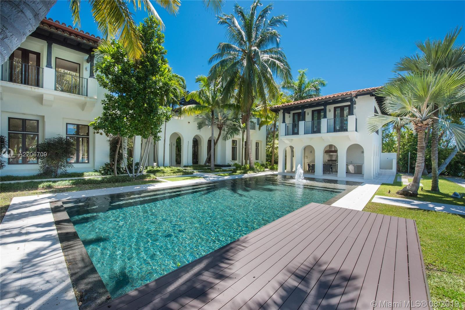 Glorious Waterfront Mansion In The Most Desirable Miami Beach Neighborhood, Lower North Bay Road. Built 2009, This Magnificent Home Offers 14, 647 S.F Of Remarkably Finished Living Areas Featuring 12-Foot Ceilings Throughout, Beautiful Living Room In-Between 2 Interior Lush Courtyards, Large Family Room With 810-Botle Wine Cellar, Game Room, Formal Dining, & 1, 100 S.F. Ultra-High-End Kitchen By Boffi. On The Second Floor, A Gym, Library, & Spectacular 2, 000+ S.F. Master-Suite With A Seating Lounge, A Wet Bar, & Mega-Size His & Hers Boffi Closets. The Home Is Sited On A Lushly Landscaped 24, 860 S.F. Lot With 125 Feet Of Waterfront, & Comes With A Detached Waterfront Office, Covered Summer Kitchen, 48-Foot Knife-Edge Pool, Dock, 3-Car Garage, Full House Generator, & More.