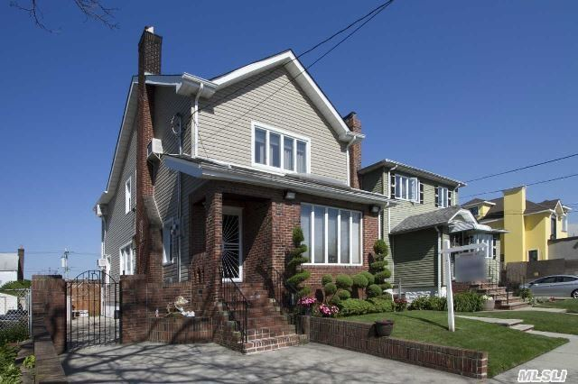 Beautiful 2 Family Detachted Home  With Huge Pool,  2nd Fl Balcony,   Pvt Driveway And It Has 2 Bedrooms On Each Floor With Finished Basement And Walk Up Attic,  Plenty Of Closets And Storage .