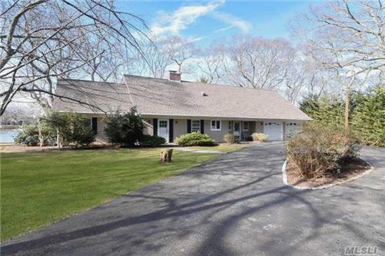Beautifully Maintained Waterfront Home On Jockey Creek With Deepwater Dock, Wide Open Creek-Views In A Very Private Location. Top Quality Custom Built Cape Cod With 4 Bedrooms, 3.5 Baths And Heated Enclosed Porch On 1.2 Acres.