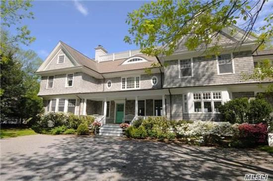 The Perfect Hamptons Alternative!  Set On 2 Waterfront Acres. Stunning Harbor Views From Most Every Room. Grand Summer Porch, 170 Feet Of Sandy Beach With Dock, & Rare Boat House At Waters Edge. Spacious Living Room With Fireplace. Formal Dining Room, Paneled Library, Open Gourmet Kitchen With Family Room And Fireplace.  *Deeded 4 Room 1.5 Bath Cottage*