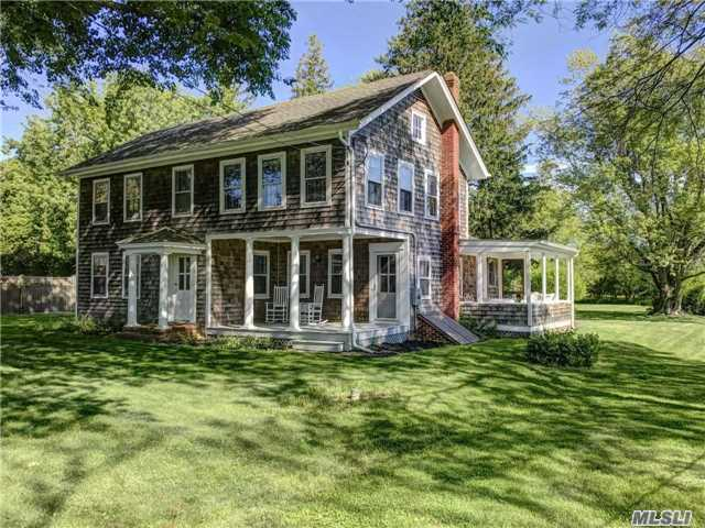 Beautifully Preserved 19th C Orient Village Historic House In The Heart Of Village On Coveted Orchard St. Set On Deep Lot Offering Unique Privacy & Room For A Pool. 4 Bedrooms & 2 Full Baths, Formal Dining Room, Front Porch & Rear Screened-In Porch, Updated Kitchen & Dining Patio Overlooking Large Pastoral Backyard. Close To Bay And Sound Beaches & Village Amenities.