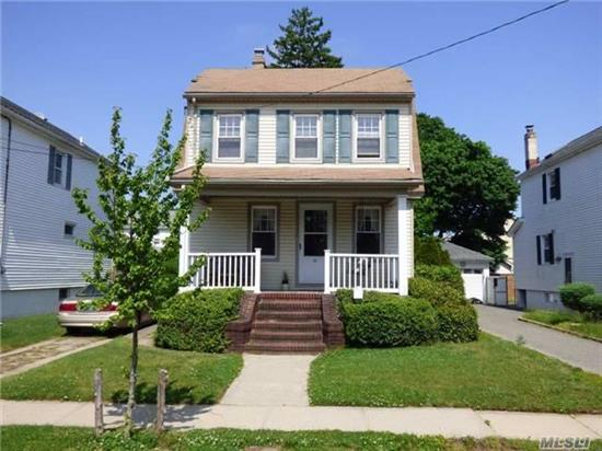 Classic Gibson Col W/ Charming Front Porch + Wonderful Rear Deck With French Doors To Fdr, Lovely Oak Floors W/ Walnut Trim, New Windows + Original Stained Glass Window, Short Walk To Gibson Lirr Stat + Home Is Located In Prime Sd #24