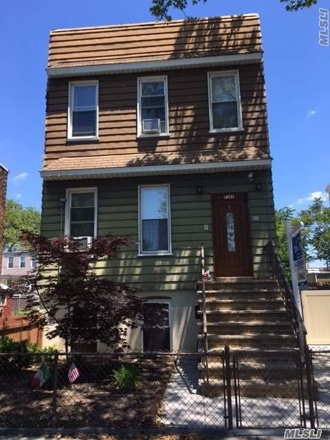 Beautiful Two Family House. First Floor - Lr, Eik, Full Bath 1 Br. Second Floor - 2 Brs - Full Bath - Computer Room & Stairs To Attic. Legal Entrance To St. Level Apt. - Lr - Eik - One Br & Full Bath. Private Driveway, 1 Car Garage & Storage Shed.. 40 X 100 - Tremendous Side & Rear Yard. Upgraded Electric Service. Hi-Tech Top Of The Line Gas Hot Water Heat With 4 Zones.
