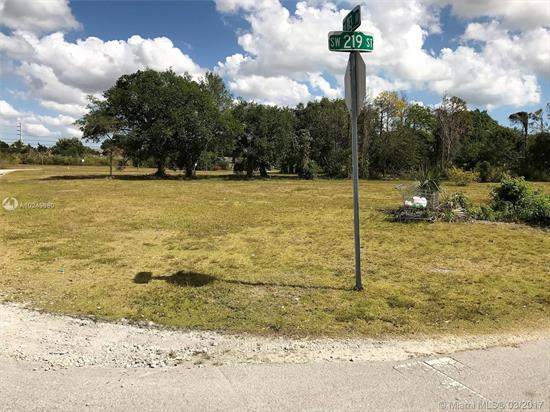 Vacant Corner Lot In Residential Neighborhood With Paved Road Ready To Be Built On Sw 219Th St Corner With Sw 113 Av. Drive By And View. Adjacent Lot Also For Sale. Each Have Their Individual Folio Number.