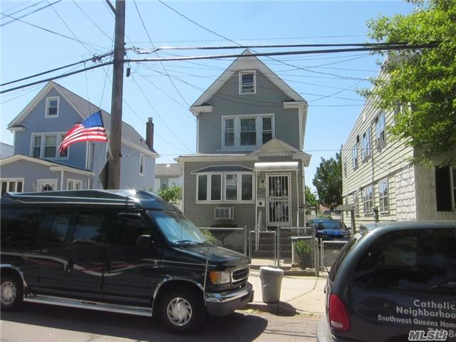 Oversize 1 Family Dwelling Seated In A 40X100 Lot, With Large Living & Dining Room Area, Big Eat-In Kitchen, 2.5 Bath, 5 Bedrooms, Full Finished Bsmnt, Huge Open Attic, Private Driveway, A.G. Pool, Walking Distance To All Amenities In Liberty Ave. & Rockaway Blvd., Transportations, Schools, Church, Etc., 10 Min. Drive To Jfk Airport, 10 Min. Drive To Queens Center Mall.