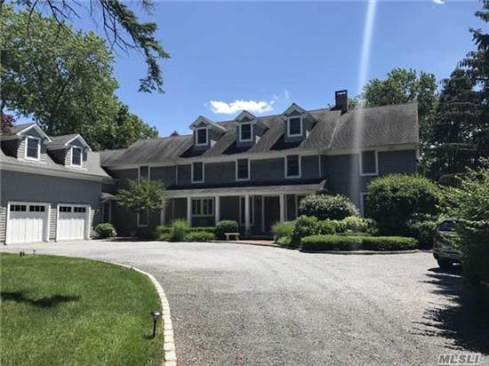 Hamptons Designer Living In Harborfields Sd! Custom 2007 Cedar Shingle Colonial Nearly 6, 000 Sq Ft 4Br 5.5Baths, High Ceilings, Open Floorplan, Top Of Line Chefs Kitchen, Large Master Suite W Radiant Marble Bath. Room For Mom! Saltwater Pool On Immaculately Landscaped Level 1.63 Acres In Greenlawn Village By Lirr Shops And Beaches.