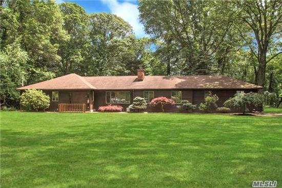 Beautifully Updated Expanded Ranch W 3 Bedrooms And 3 Baths. Updated Kitchen W Gas Range. Huge Family Room With Vaulted Ceilings And Sliders To Backyard. Full Finished Basement. Country Club Property On 1 Acre. Ig Pool (As Is). Large Back Deck, Gazebo, Playground. 2-Car Garage.