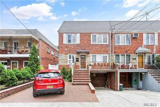 Brick Semi Detached 2 Family. 6 Rooms, 3 Bedrooms Each Apt., Full Finished Basement With Access To Nice Private Yard, 1 Car Garage, Private Driveway. Great Location, Only Half A Block To Juniper Park. 1st Fl Is Vacant.