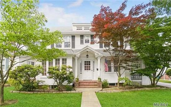 Ideally Located, Center Hall Colonial W/Charming Original Details. 60X100 Lot. Close To Stores, Schools, Downtown, Transportation (Bus/ L.I.R.R 35 Min To Penn Station). Recent Upgrades: Kitchen, Bathroom, Central Air, 200 Amp Electric, Distributed Audio (Music) And Home Theater Wiring. Detached 2-Car Garage W/ Walk-Up Loft. Total Taxes $12, 847 After Basic S.T.A.R Reduction