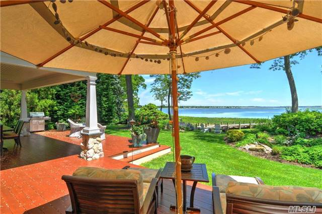 Exquisitely Constructed, No Detail Spared, Over 230' Of Waterfront & Deep Water Dock On Cedar Beach Creek. Open Floor Plan, Soaring Ceilings, Gmt Kit, Fdr, 3 Fpl, 4 Br Incl 2 Mst Suites, 4 Ba, Office, Media Rm, 2 Laundry Rm & 2.5 Car-Gar. Magnificent Views Of Shelter Island & Peconic Bay From Expansive Deck Or Minutes By Boat To Greenport, Shelter Island & Sag Harbor.