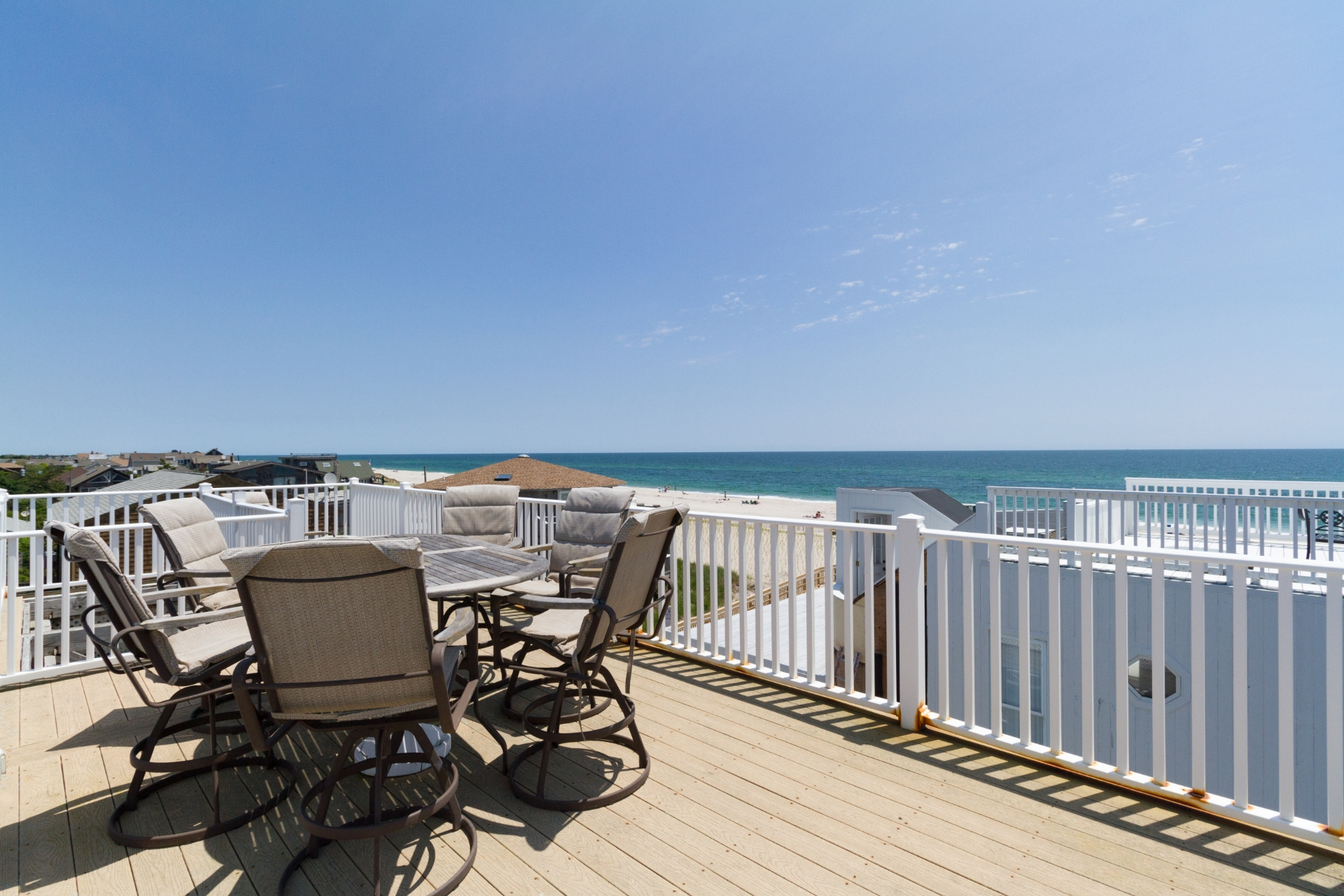 Spend your summer vacation relaxing in this beautiful house right off the ocean.This gorgeous home is in a great location June 19 to July 7 available.