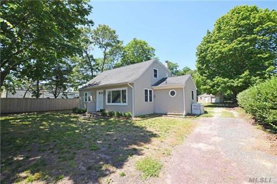 Amazing Opportunity In Westhampton Beach Village!! This Renovated Cape Offers, Eat-In-Kitchen, Laundry Rm, Living Rm, Four Bedrooms Two Full Baths And Detached Garage. Spacious Backyard Has Room For Pool, Just Minutes From Main Street & Beaches. This Is The Perfect Investment!! Come Enjoy All The Hamptons Has To Offer.