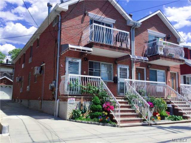 Prime Location In College Point, 5 Mins Ride To Flushing 9 Year-Old Brick Two Family, 66 Over Full Finished Basement, Private Driveway And Garage, Close To Supermarket And Bjs