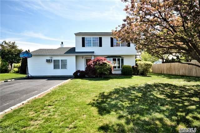 Mint Colonial Located In The Estates. Home Features Large Living Rm, Formal Dining Rm, Eik W/Quartz Countertop & S/S Appl, Den, And Large Storage Rm. 2nd Floor Offers Master Br W/Full Bth, Walk In Closet And 2 Additional Large Bedrooms. Backyard Is Entertainers Delight W/ New Deck! Close To Both Bellport And Patchogue Villages. Motivated Seller!! See Virtual Tour.