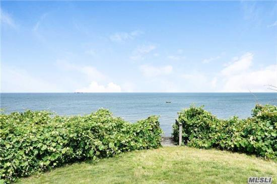 Remarkable Soundfront Cottage, Including High End Renovations And Low Bluff With Steps To Private Beach, Enjoy Stunning Sunsets From This Exquisite Waterfront Home In A Prime Location Only A Short Commute From Nyc, Set On A Quiet Rural Road Yet Close To Restaurants, Wineries, Farmstands And More. Plans In Place For 2 Bedroom/1 Full Bath Addition. And Not In A Flood Zone!