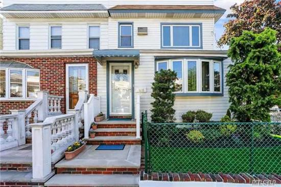 Large Renovated 2 Family On A Nicely Landscaped Corner Property. 1st Fl & Partial 2nd Fl Duplex Features A Large Lr, Fdr, Large Eik, 2 Bedrooms, Full Bathroom And A Spiral Staircase That Leads To 2 Additional Bedrooms On The 2nd Fl. Another 2nd Fl Apt. Features Eik, Lr, 2 Bedrooms And 1 Full Bathroom. 2 Car Gar W/ Elect Door Opener, Full Fin Bsmt, Inground Sprinklers