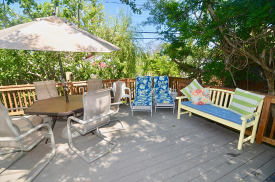 Beautifully updated 4 bedroom, 3 bathroom home in desirable Ocean Beach. Bright and airy, spacious living space, 2 master en-suites. Great outdoor deck for entertaining! Only 3 minutes from the beach!  Available last week of June, all of July and Labor Day Weekend.